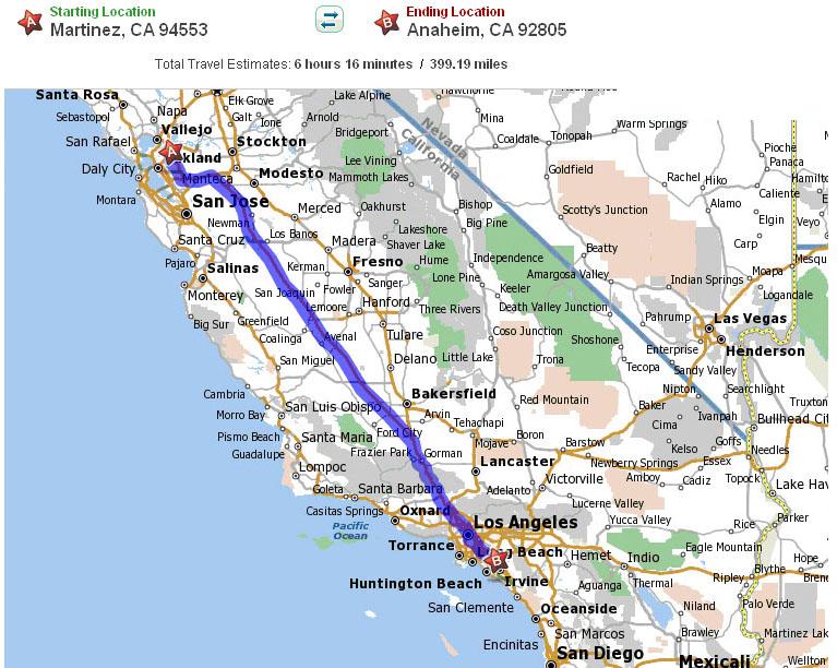 LAX/LBC (Anaheim, CA 92805) 550